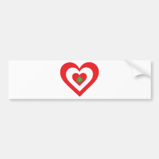 Lebanon Heart Bumper Sticker