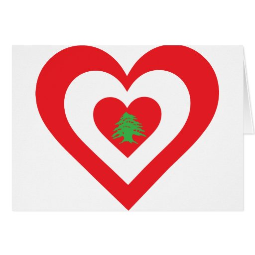 Lebanon Heart Greeting Card