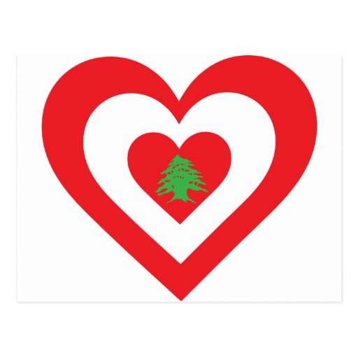 Lebanon Heart Post Card