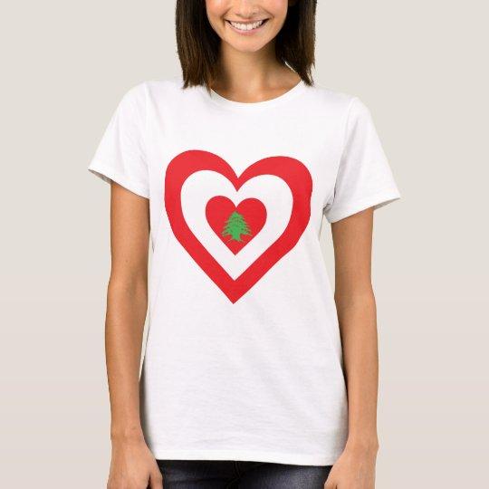 Lebanon Heart T-Shirt