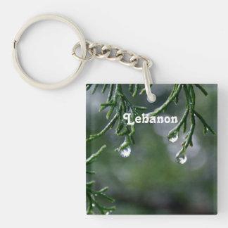 Lebanon Single-Sided Square Acrylic Keychain