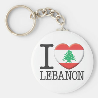 Lebanon Basic Round Button Keychain