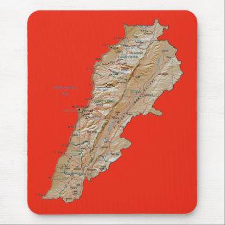 Lebanon Map Mousepad