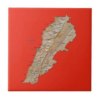 Lebanon Map Tile