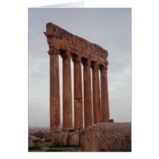 lebanon near site of Baalbek, neolithic site Greeting Card
