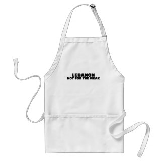Lebanon-Not for the Weak Adult Apron