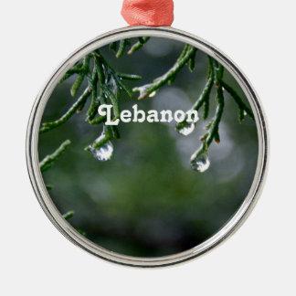 Lebanon Round Metal Christmas Ornament
