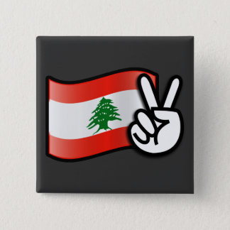 Lebanon Peace Button