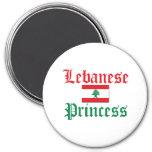 Lebanon Princess 3 Inch Round Magnet