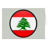 Lebanon quality Flag Circle Greeting Card