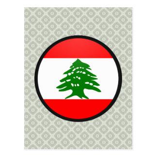 Lebanon quality Flag Circle Post Card