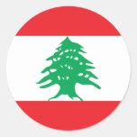 Lebanon Round Sticker