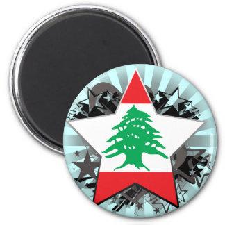 Lebanon Star Fridge Magnet