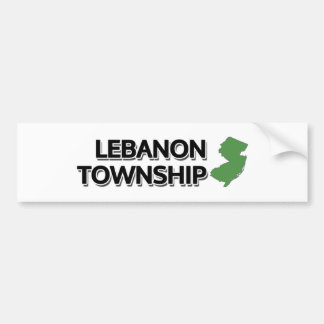 Lebanon Township, New Jersey Bumper Sticker