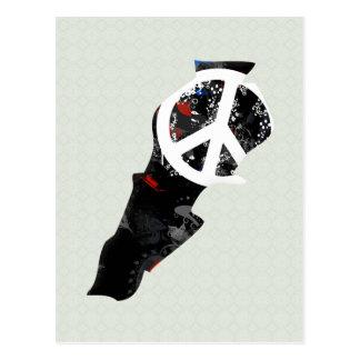 Lebanon Trendy Peace Sign with Lebanese map Postcard