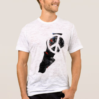 Lebanon Trendy Peace Sign with Lebanese map T-Shirt