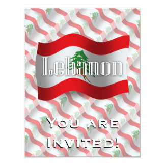 Lebanon Waving Flag Card