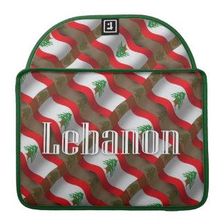 Lebanon Waving Flag MacBook Pro Sleeve
