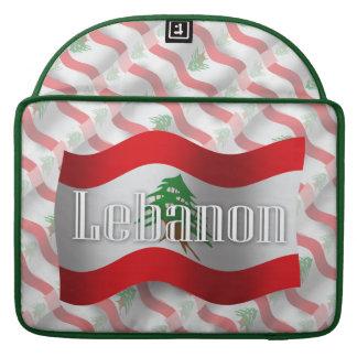 Lebanon Waving Flag MacBook Pro Sleeves