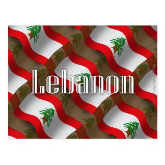 Lebanon Waving Flag Postcard