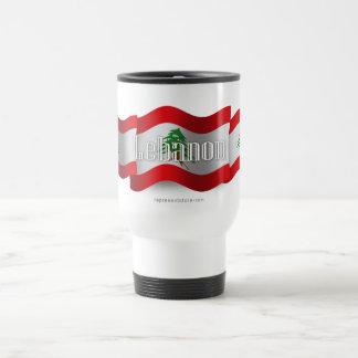 Lebanon Waving Flag Travel Mug