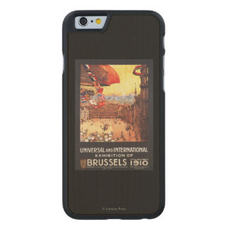Lebaudy Airship with World Flags at Expo Carved® Maple iPhone 6 Slim Case