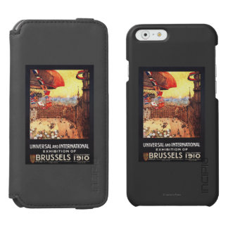 Lebaudy Airship with World Flags at Expo iPhone 6/6s Wallet Case