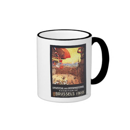 Lebaudy Airship with World Flags at Expo Coffee Mugs