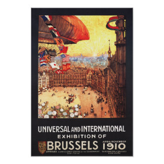 Lebaudy Airship with World Flags at Expo Poster