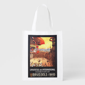 Lebaudy Airship with World Flags at Expo Reusable Grocery Bag