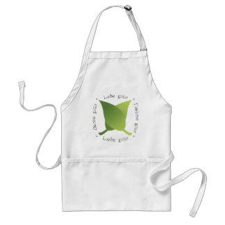 Lebe grün, liebe grün, träume grün, denke grün adult apron