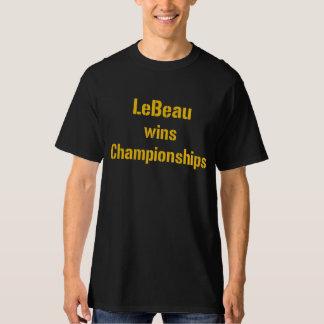 LeBeau wins Championships  (saying on back) T-shirt