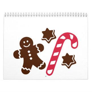 Lebkuchen candy cane calendar