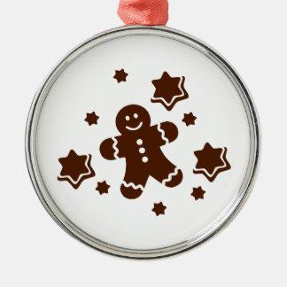Lebkuchen christmas cookies round metal christmas ornament