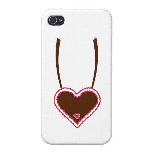 Lebkuchen heart cases for iPhone 4