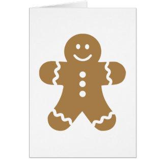 Lebkuchen man christmas greeting card