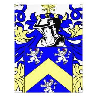 LeBlanc Coat of Arms Letterhead Template