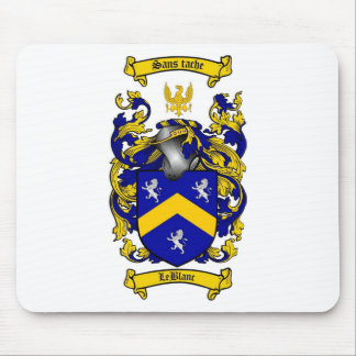 LEBLANC FAMILY CREST -  LEBLANC COAT OF ARMS MOUSE PAD