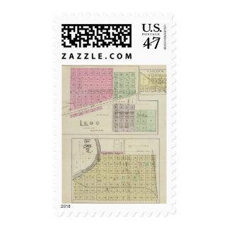 Lebo, LeRoy, and Strawn, Kansas Stamp