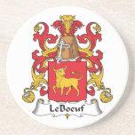 LeBoeuf Family Crest Coasters