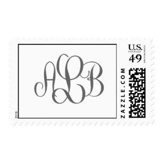 Lebowitz Monogram Gray Stamp