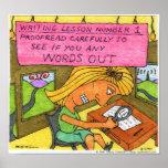 Lección #1 de la escritura impresiones
