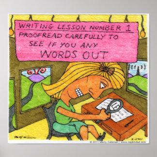 Lección #1 de la escritura póster