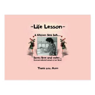 Lección #2 de la vida de una madre tarjeta postal