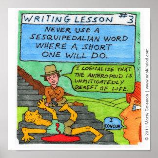 Lección #3 de la escritura póster
