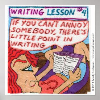 Lección #4 de la escritura póster