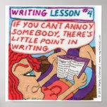 Lección #4 de la escritura posters