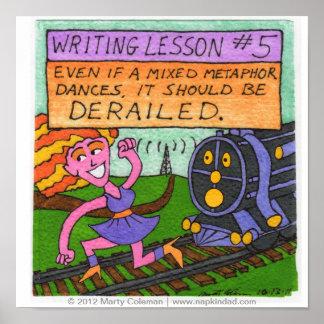 Lección #5 de la escritura póster