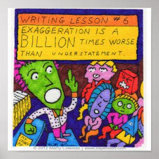 Lección #6 de la escritura póster