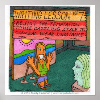 Lección #7 de la escritura póster